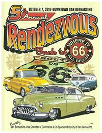 2017 Rendezvous Back to Route 66 car show in downtown San bernardino